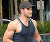 Slide Photo of Kellan Lutz in a Tank Showing Off His Muscles After Eclipse Workout