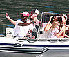 Slide Photo of Matt Damon and Family Visiting Clooney on Lake Como