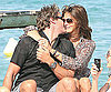 Slide Photo of Cindy Crawford, Rande Gerber Kissing in St. Tropez on a Boat