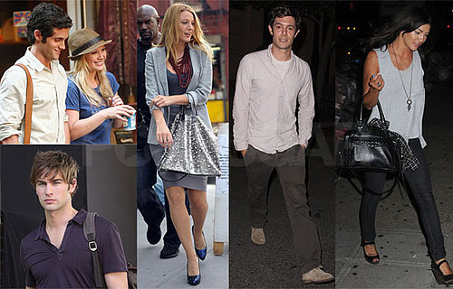 Photos of Gossip Girl Filming in NYC With Hilary Duff, Adam Brody on Jessica Szohr at Dinner