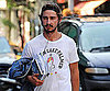Slide Photo of Shia LaBeouf in NYC With Lots of Books