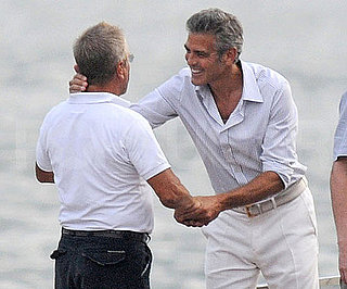 Photo Slide of George Clooney in Italy