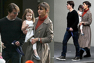 Photos of Suri Cruise, Tom Cruise, Katie Holmes on Set in Melbourne, Australia