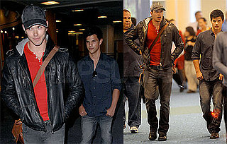 Photos of Kellan Lutz and Taylor Lautner Arriving at Vancouver Airport For Eclipse