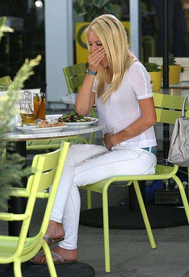 Photos of Heidi and Spencer at a Yogurt Shop