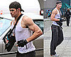 Photos of Kellan Lutz Running in the Rain in Vancouver