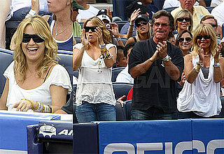 Photos of Kate Hudson, Goldie Hawn, Kurt Russell at Alex Rodriguez Yankee Game Against Red Sox