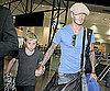 Slide Photo of David Beckham, Brooklyn Beckham Landing at LAX