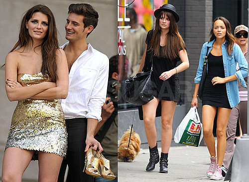 Photos of Mischa Barton on the NYC Set of The Beautiful Life