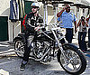 Photo Slide of Justin Timberlake on a Motorcycle