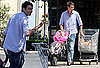 Photos of Law Student Jerry O'Connell With Daughters Dolly O'Connell and Charlie O'Connell Shopping
