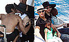 Photos of Madonna on Her 51st Birthday With Jesus Luz And Children Lourdes, Rocco, David and Mercy on Positano