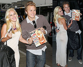 Photos of Heidi and Spencer at LAX With Heidi's Playboy Cover