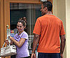 Photo Slide of Eliza Dushku and Rick Fox Getting Coffee in LA