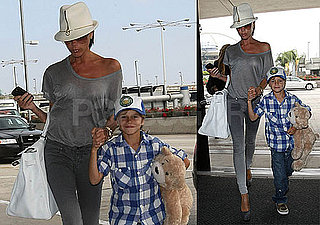 Photos of Victoria And Romeo Beckham at LAX and Heathrow