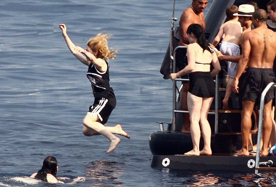Photos of Madonna in Italy