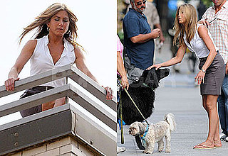 Photos of Jennifer Aniston Filming The Bounty in NYC