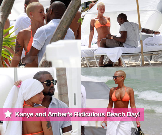 Kanye and Amber's Ridiculous Beach Day!