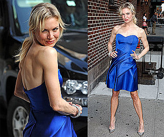 Photos and Video of Renee Zellweger on The Late Show