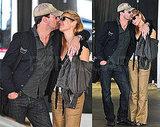 Photos of Jon Hamm and Jennifer at LAX
