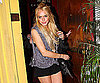 Slide Photo of Lindsay Lohan Leaving Dan Tana's in Short Shorts
