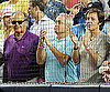 Slide Photo of Jack Nicholson, Lorne Michaels, Paul McCartney at Yankees Game