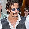 Photos of Johnny Depp at The Nice Airport