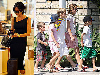 Photos of Victoria Beckham Shopping at Barneys in LA; Cruz, Romeo, And Brooklyn Out With Girl Friends