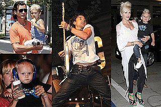 Photos of Gavin Rossdale, Kingston Rossdale, Gwen Stefani, Zuma Rossdale at Gavin's Concert in LA