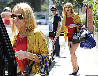 Photos of Lindsay Lohan Outside Her LA Home Following a Robbery