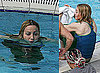 Photos of Madonna Swimming in Her Romanian Pool in Capri Pants and Tank Top