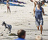 Photo Slide of Matthew McConaughey Running in Malibu