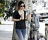 Photo Slide of Rachel Bilson Getting Coffee in LA