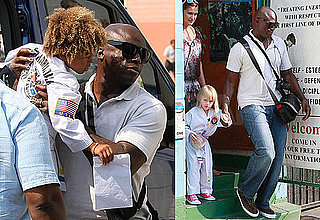Photos of Seal Picking Up Leni Klum and Henry Samuel From Karate Class