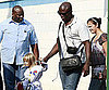 Photo Slide of Seal Taking the Kids to Karate Class in LA