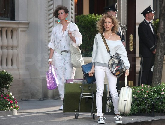 Photos of SJP Filming SATC2