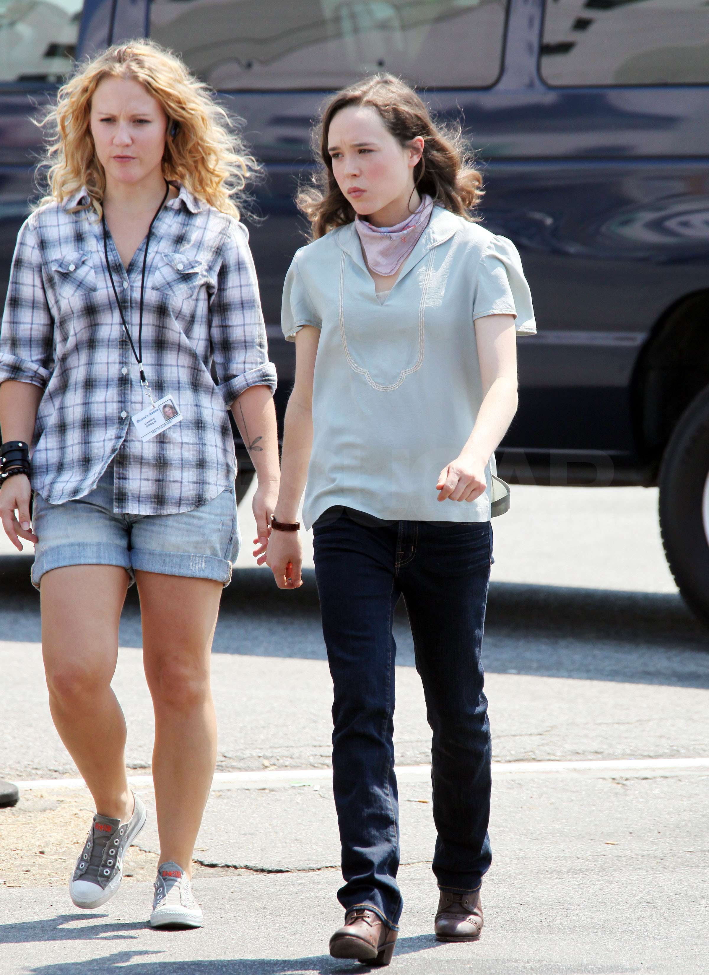 ellen page and clea duvall out and about in this photo ellen page clea ...