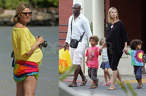Photos of Pregnant Heidi Klum With Seal, Leni Klum, Henry Samuel, And Johan Samuel in Hawaii Before Project Runway Returns