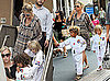 Photos of Pregnant Heidi Klum Picking Up Henry, Leni, and Johan from Karate Class