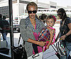 Photo Slide of Jessica Alba and Honor Warren at LAX