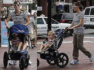 Photos of Jennifer Garner and Violet Affleck Walking Together in Boston