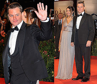 Photos of Matt Damon and Luciana At Venice Film Festival Premiere of The Informant 2009-09-08 07:00:48