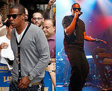 Photos of JayZ at Letterman and Performing