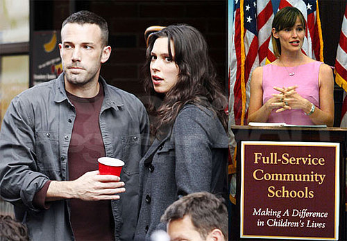 Photos of Ben Affleck, Rebecca Hall, The Town filming in Boston, Jennifer Garner