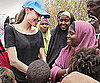 Slide Photo of Angelina Jolie on the Kenya-Somali Border at a Refugee Camp