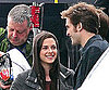 Photo Slide of Robert Pattinson and Kristen Stewart on the Eclipse Set