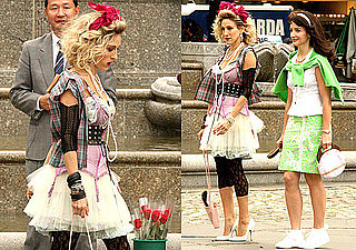 Photos of Sarah Jessica Parker, Kristin Davis, and Cynthia Nixon Filming Sex and the City 2 in NYC