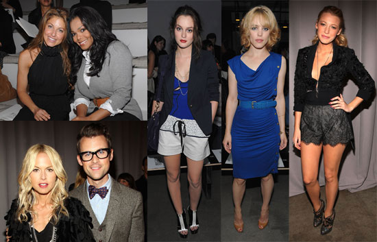 Photos of Blake, Rachel and Leighton at Fashion Week