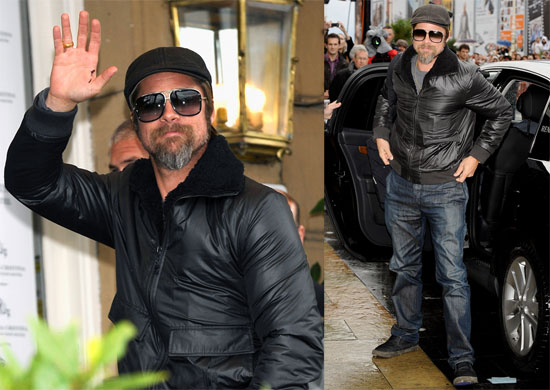 Photos of Brad Pitt at San Sebastian