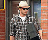 Slide Photo of Justin Timberlake Wearing Hat and Glasses in NYC